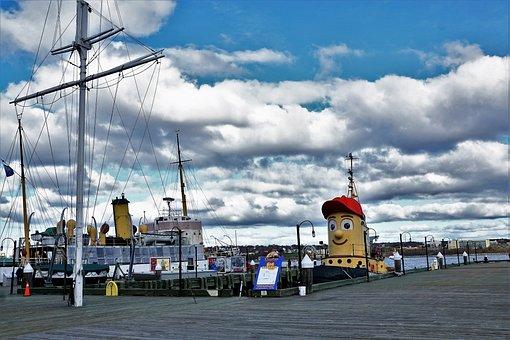 Boot, Canada, Halifax Sky, Beach, Theodor, Tugboat