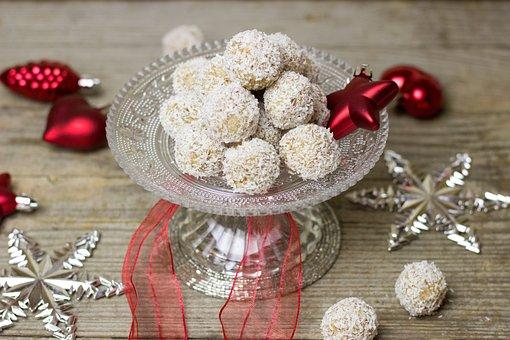 Coconut, Chocolates, Balls, Christmas, Advent