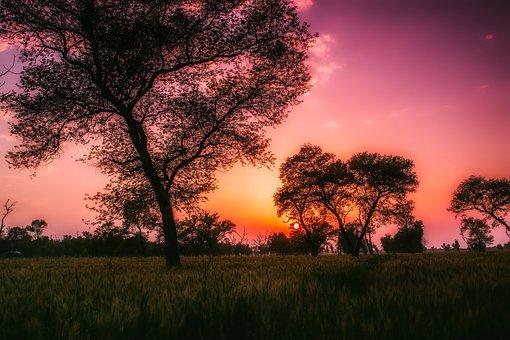 Pakistan, Sunset, Dusk, Landscape, Beautiful, Sky