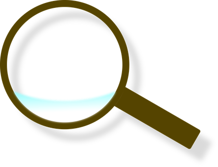 Magnifying Glass, Glass, Wood, Lens, Blue, Brown