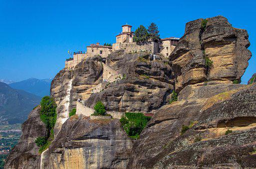 Mountains, Travel, Religion, Stones, Monastery