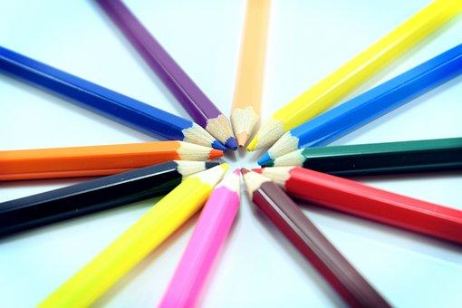 Colored Pencil, Colorful, Color Pencils, Color, Rainbow