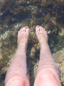 Feet, Water, Relax, Nature, Beach, Lake, Sea, Bless You