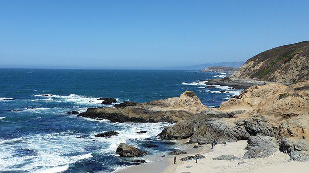 Sonoma, Seacoast, Waves, Nature, Rocks, Ocean, Sea
