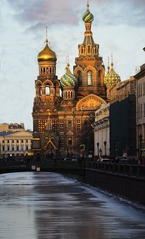 St Petersburg Russia, Temple, Tourism, Postcard