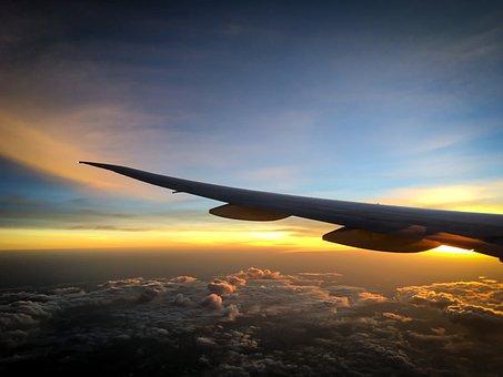 Flight, Clouds, Travel, Sky, Aircraft, Selva Marine