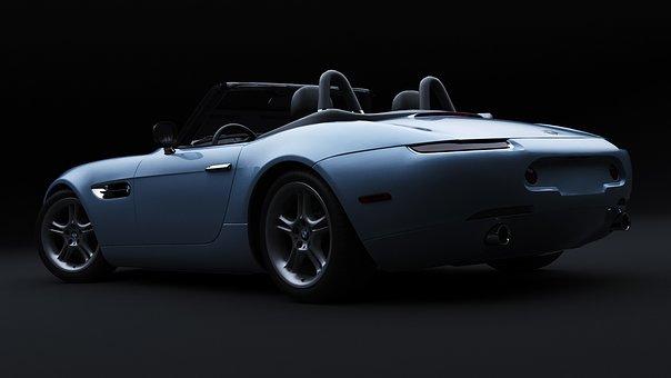 Bmw Z8, Car, 3d Render, Automobile, Vehicle