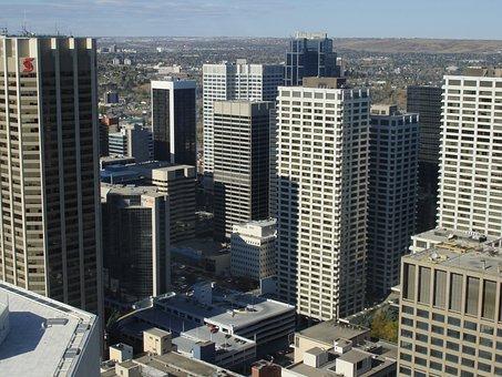 Calgary, Cityscape, Alberta, Canada, City, Architecture