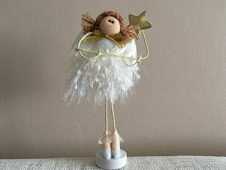 Christmas, Angel, Heaven, Garnished With, Holiday