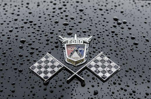 Ford, Car, Vintage, Badge, Auto, Classic, Antique, Old