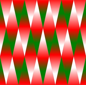 Christmas, Geometric, Background, Green, Red, White