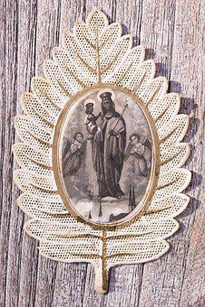 Devotional Picture, Santino, Top Edge, Gold, Maria