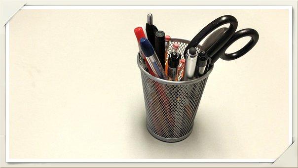 Pencil, Pen, Pen Holder, Ballpoint, Office Supply