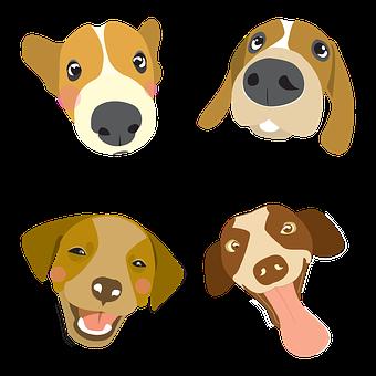 Dog, Illustration, Pet, Big Head Dog, Color, Q Version