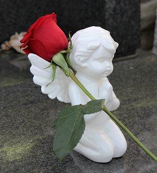 Stop Children Suicide, Angel, Red Rose