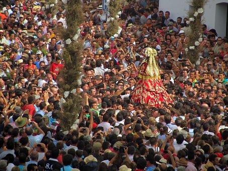 Pilgrims, Worship, Procession, Virgin, Dew, Religion