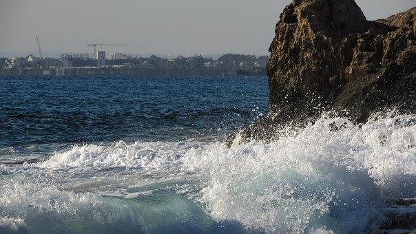 Rocky Coast, Wave, Sea, Wild, Crash, Splash, Scenic
