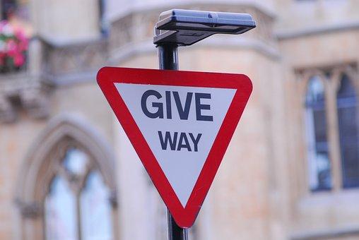 Sign, Give Way, United Kingdom, Britain, Signpost