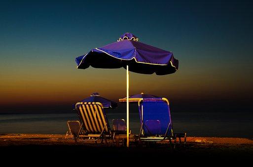 Cyprus, Polis, Paphos, Camping, Night, Seaside, Sunset