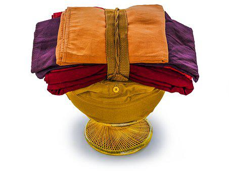 Theravada Buddhism, Bowl And Robes, Bowl With Robes