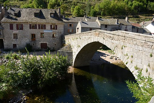 Bridge, River, Old Town, District, Homes, Village