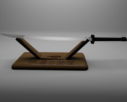 Sword, Katana, Japanese Long Sword, Weapon, Background