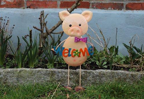Figure, Animal, Pig, Pig Figurine
