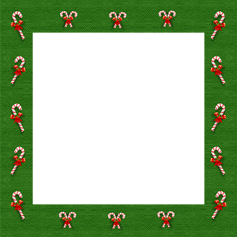 Christmas, 3d, Candy Canes, Frame, Border, Green
