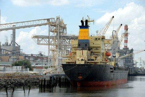 Ship Yard, Savannah, Georgia, Freight, Transportation