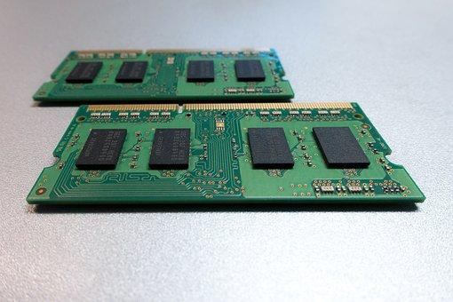 Printed Circuit Board, Memory, Green, Fund, Silver