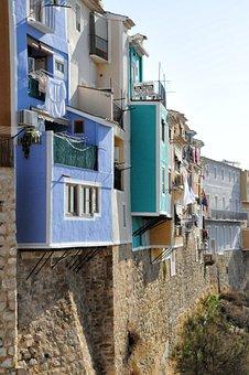Villajoyosa, Spain, Houses, Facades, City, Colors