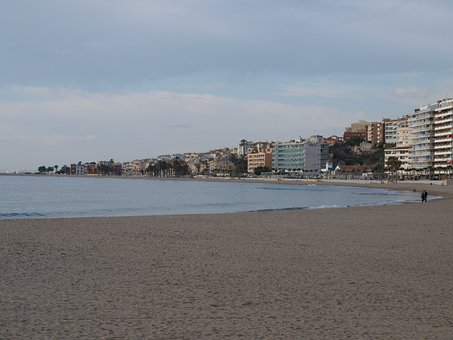 Beach, Sea, Spain, Water, Winter, Villajoyosa, Cold