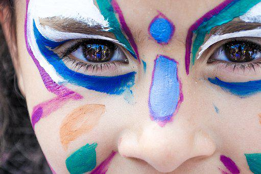 Makeup, Little Girl, Festival, Face Painting, Child