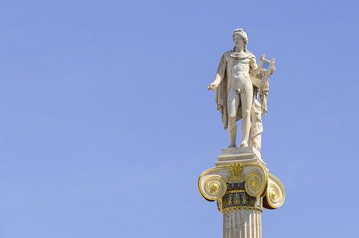 Athens, Greece, Apollo, Greek God, Statue, Europe