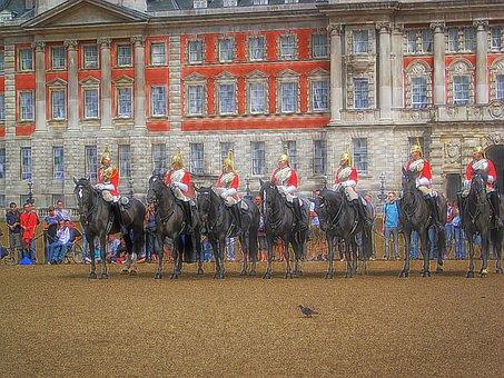 Horse, Guards, London, English