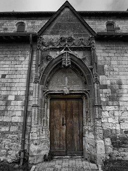 Saulces-champenoises, France, Building, Door, Doorway