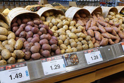 Potatoes, Eat, Market