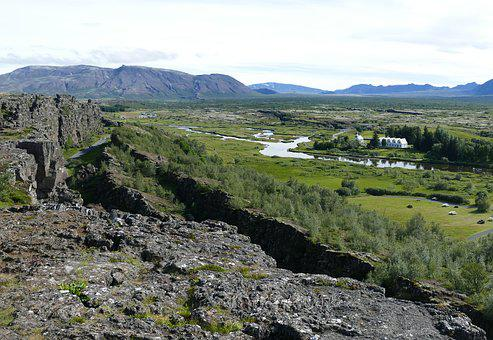 Iceland, Thingvellir, Landscape, Rock, Crevices