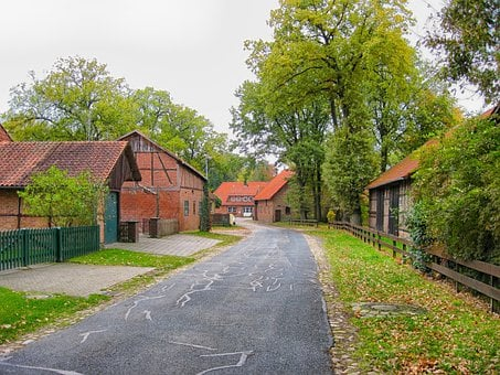 Stellichte, Germany, Village, Town, Houses