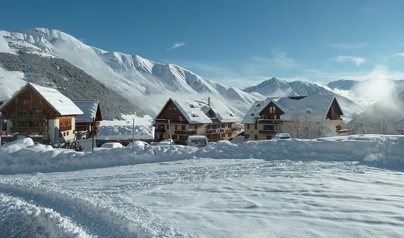 Village, Mountain, Winter, St Sorlin D Arves
