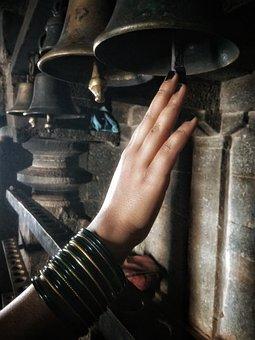 Scenery, Heritage, Woman, Hand, Bangles, Bell, God