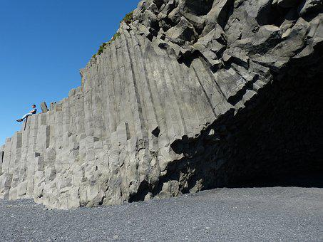 Iceland, Beach, Sand, Black Stone, Rock, Stones, Lava