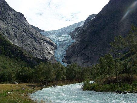 Glacier, Norway, Landscape