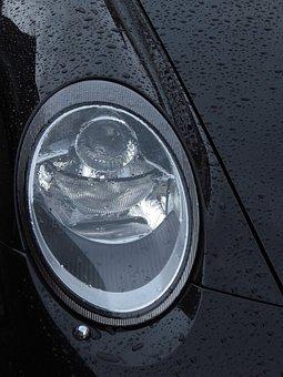 Spotlight, Light, Auto, Porsche, Lamp