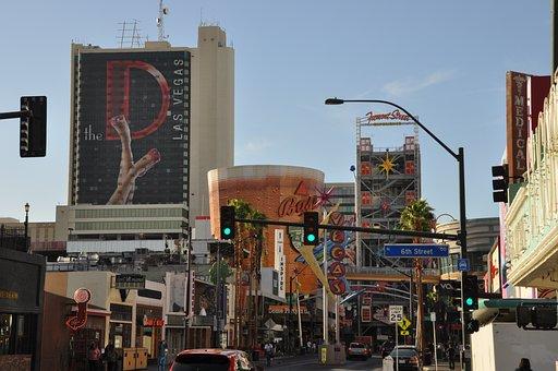Las Vegas, Downtown, City, Street, Advertisement