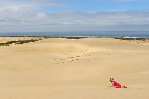 Sand Dune, Baby, Crawl, Child, Small Child, Infant