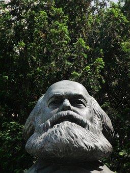 Berlin, Karl Marx, Bust, Communism, Karl Marx Allee