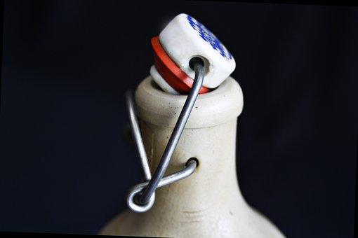 Bottle, Drink, Cork, Patent Lock, Metal, Sound