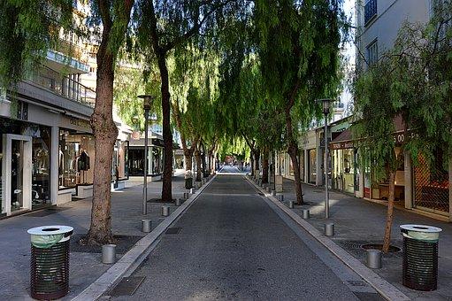 Street, Trees, City, Nice, Côte D'azur, Building