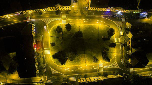 The Market, Street, Night, City, Light, Car, Old Town
